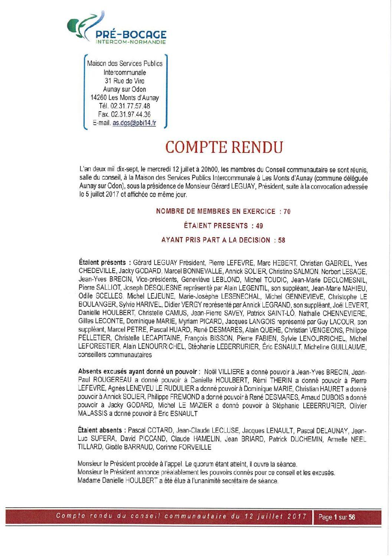 Compte-Rendu du 12 juillet 2017