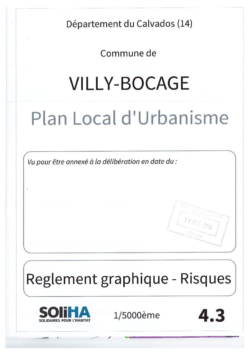 Villy-Bocage : Règlement graphique – Risque